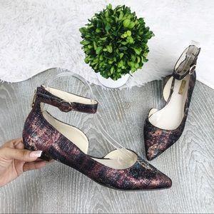 Louise Et Cie Akio D'Orsay Ankle Strap Flats 8